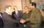 Rumsfeld and Saddam, it's more than a handshake, it is love